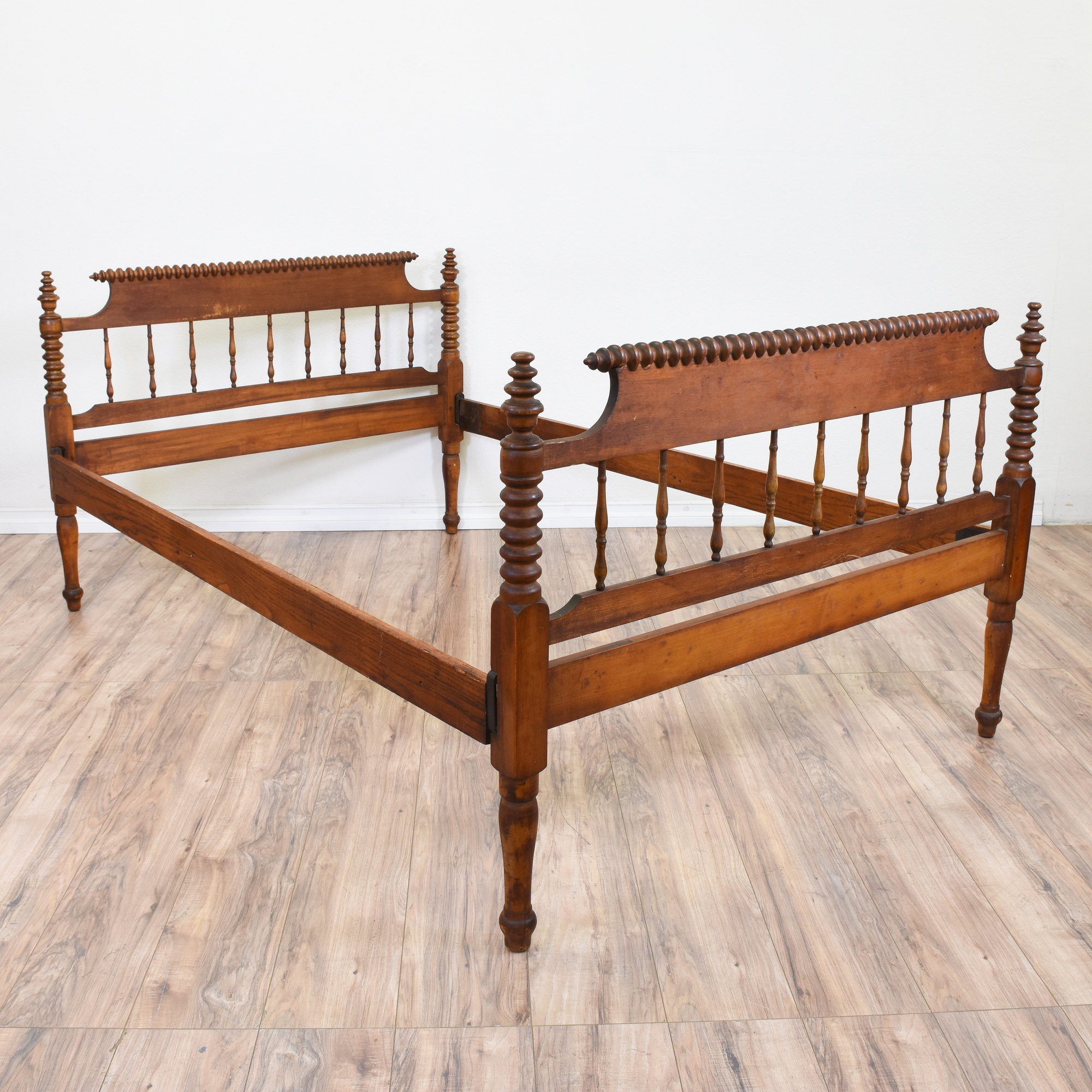 Antique Jenny Lind Style Full Sized Bed Loveseat Vintage Furniture San Diego Los Angeles