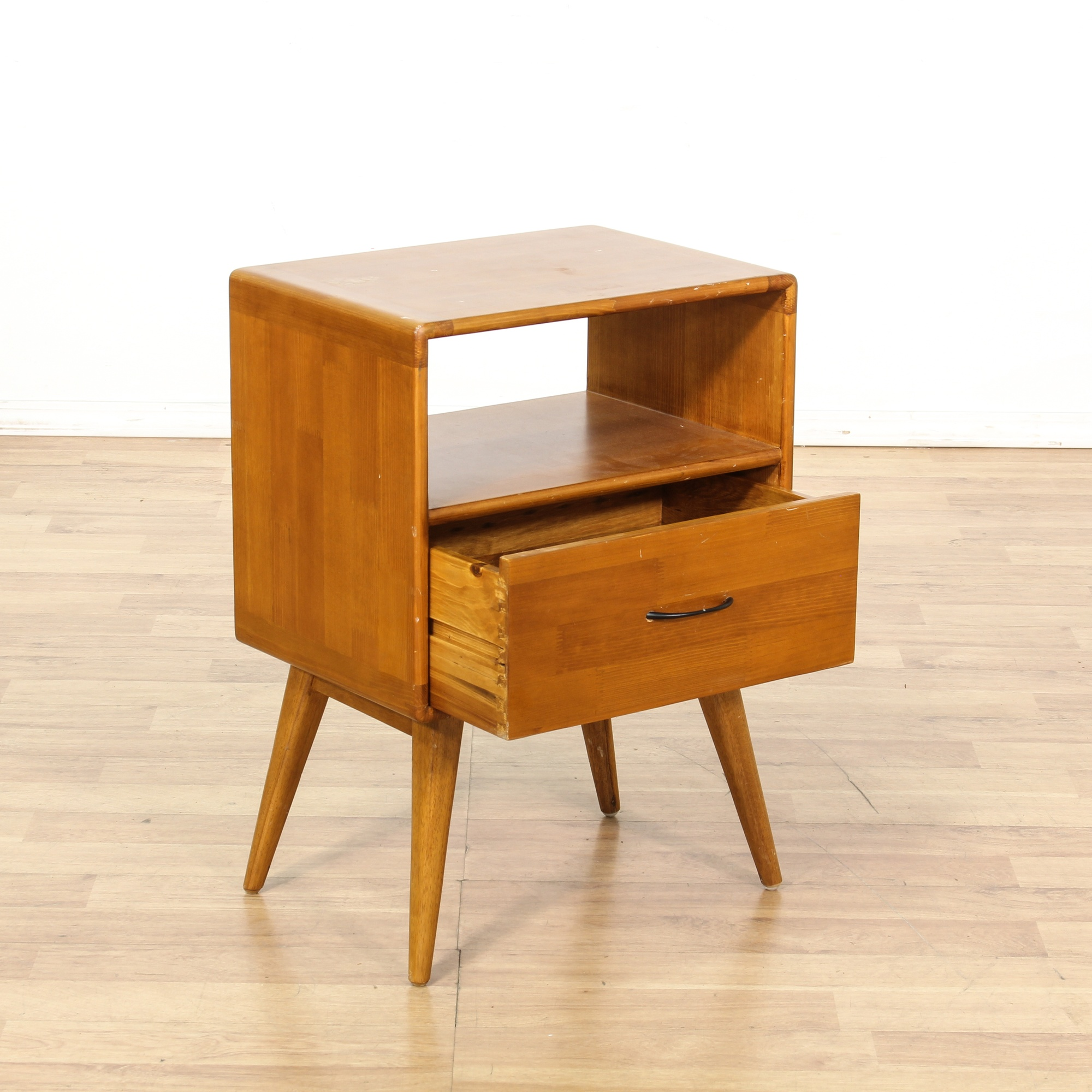 Mid century modern night stand w 1 drawer loveseat for G furniture los angeles