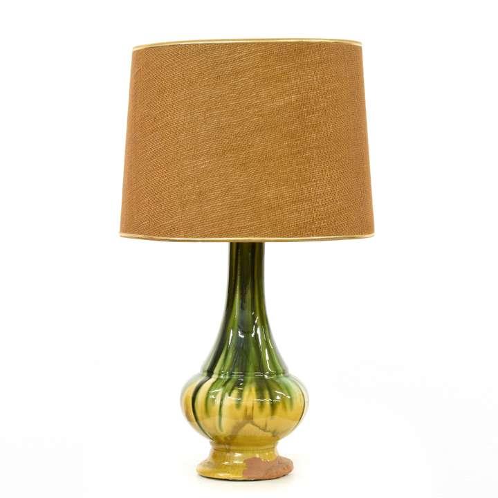 Mid Century Carved Wood Sculpture Lamp Loveseat Vintage