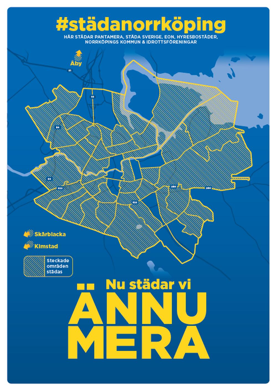 Karta städområden Städa Norrköping 2020