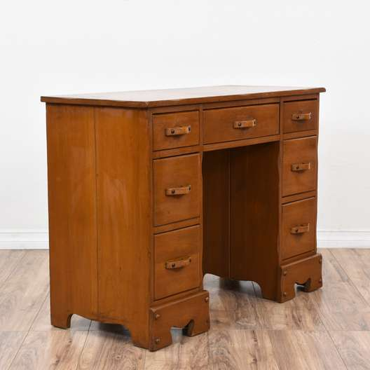 """Monterey"" Maple Kneehole Desk"