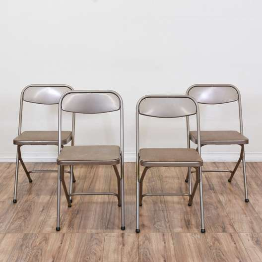 "Set of 4 ""Samsonite"" Industrial Folding Chairs"