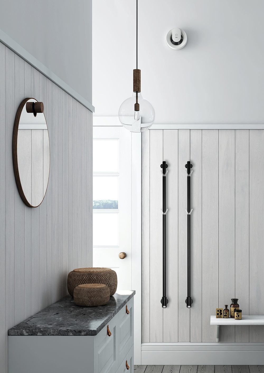 Limbo Pax handdukstork svart Black Edition Momento II elektrisk handdukstork badrum hall
