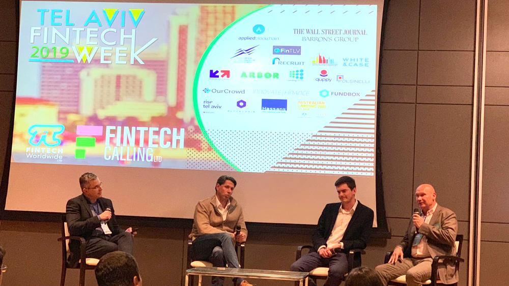 Peter Alexanderson, Founder of COVR Security, speaks in Tel Aviv Fintech week, 5th of March 2019.