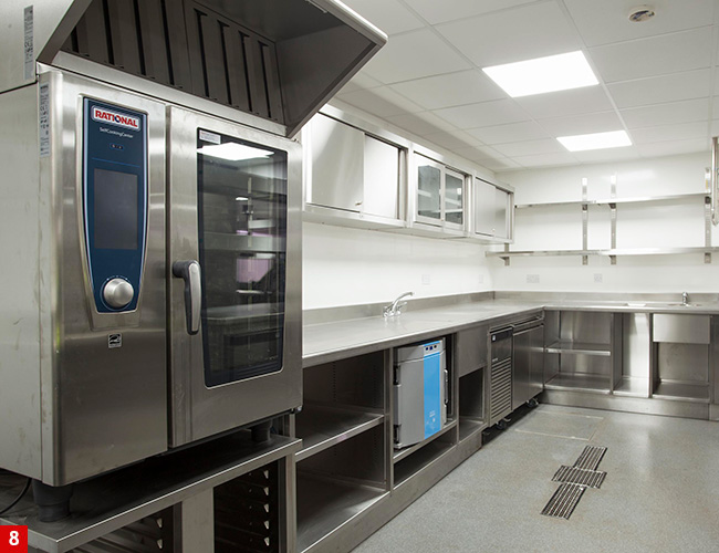 Rational 10-grid combi oven at Lympstone Manor