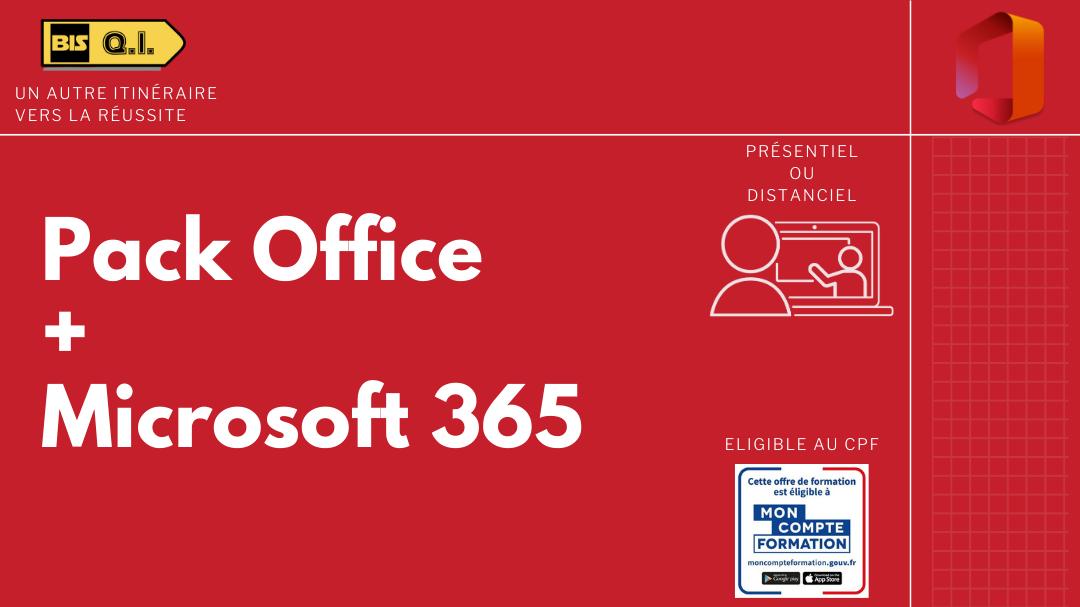 Représentation de la formation : Pack Microsoft Office - Microsoft 365