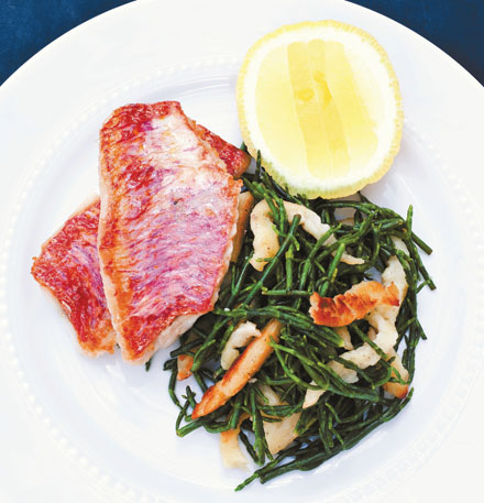 Samphire and spaetzle
