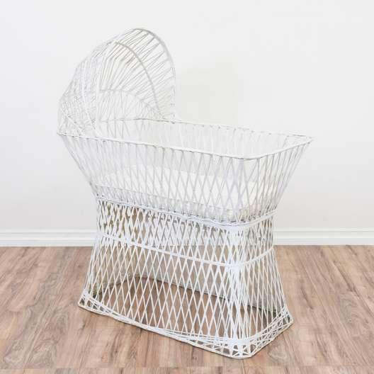 White Spun Fiberglass Bassinet Crib