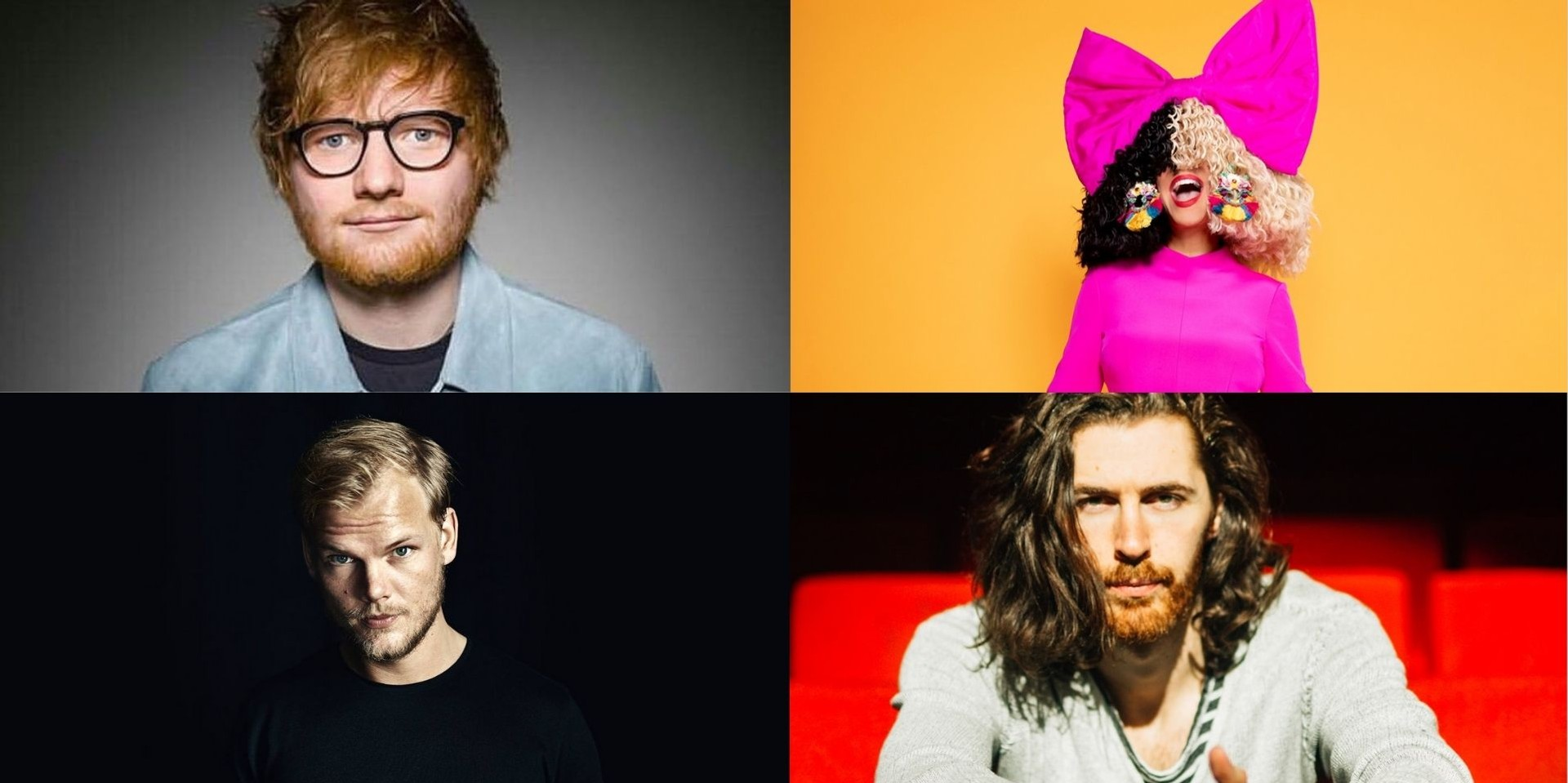 Songs by Ed Sheeran, Avicii, Sia, Hozier, and more included in Top 100 Shazams of all time – listen