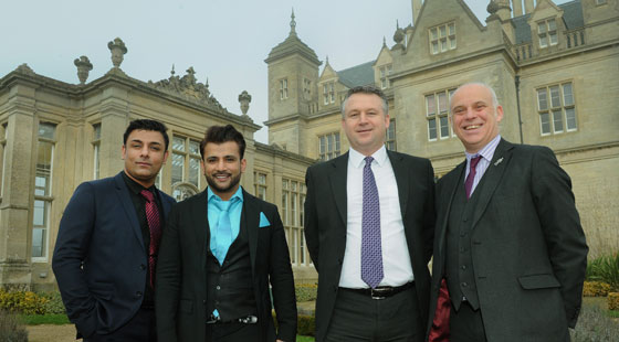 Ravi and Sanjay Kathuria with Stuart Welch (RBS director commercial banking) and Ian Morgan (RBS relationship director)