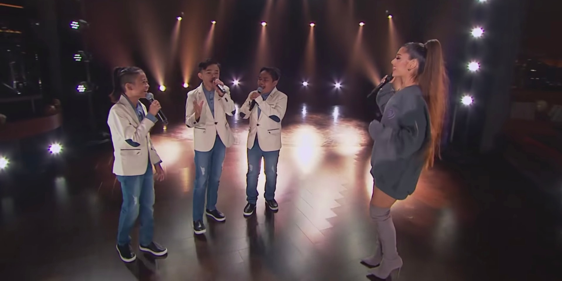 TNT Boys perform with Ariana Grande on The Late Late Show with James Corden  – watch