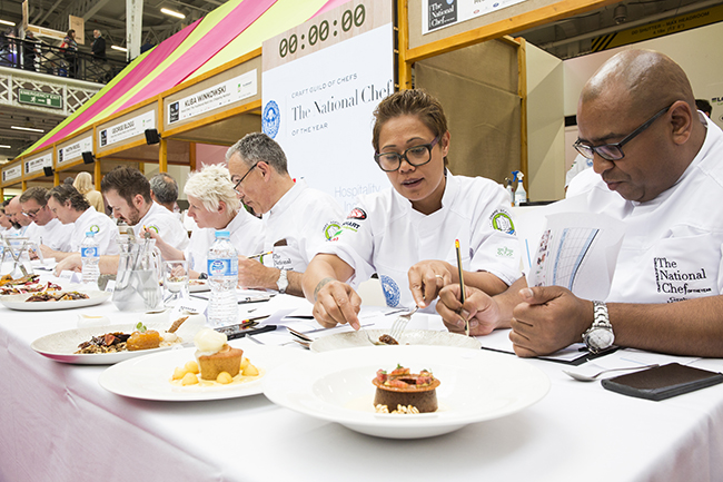 Monica Galetti at National Chef of the Year