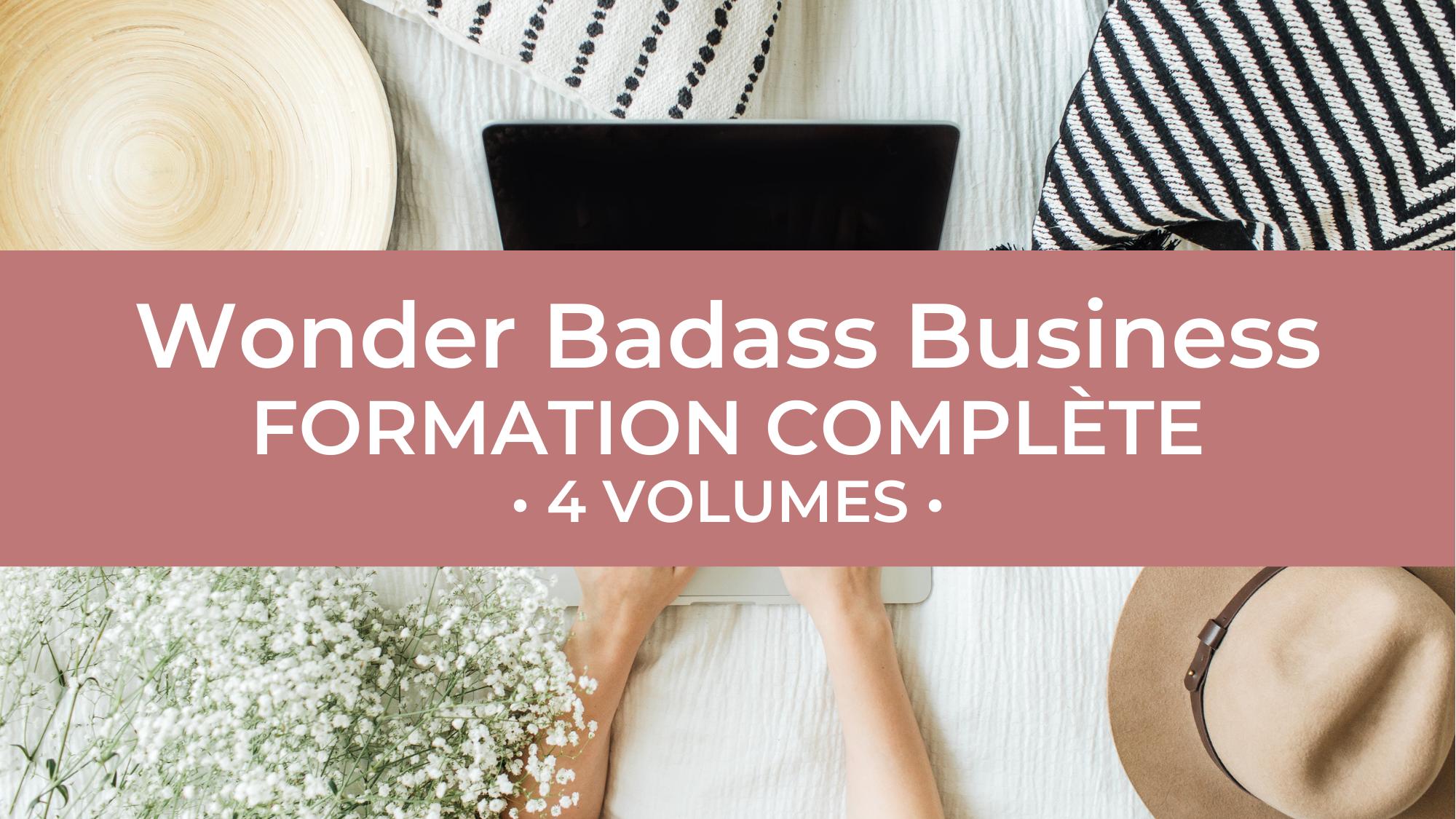 Représentation de la formation : La Formation (en centre) - Wonder Badass Business