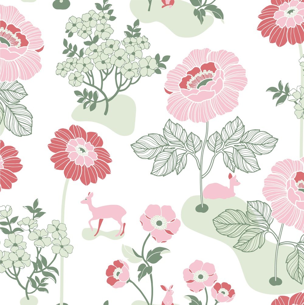 398-03 Blomsteräng röd