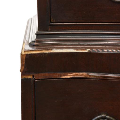 Hepplewhite Bow Front Highboy Dresser Loveseat Vintage