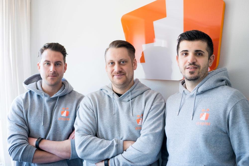 Steplers grundare fr v Niklas Frisk, Daniel Malmqvist, Semir Hadiahmetagic