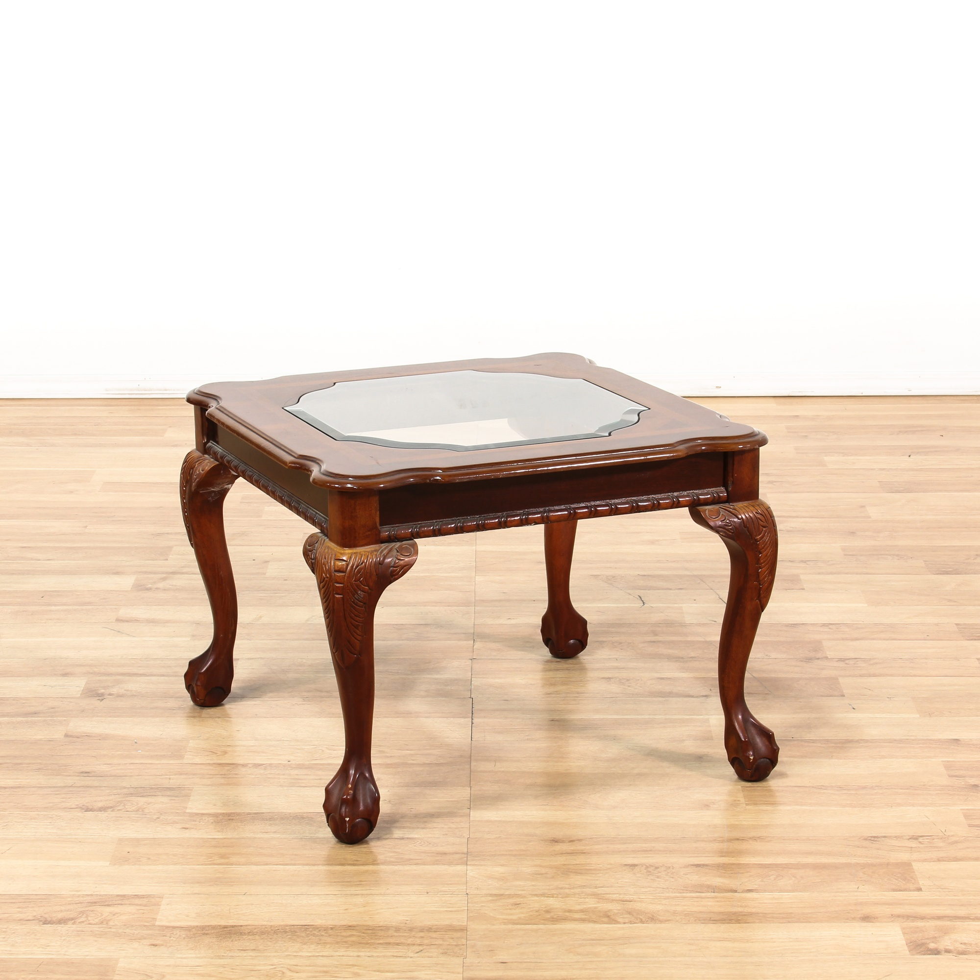 Square End Table w Ball u0026 Claw