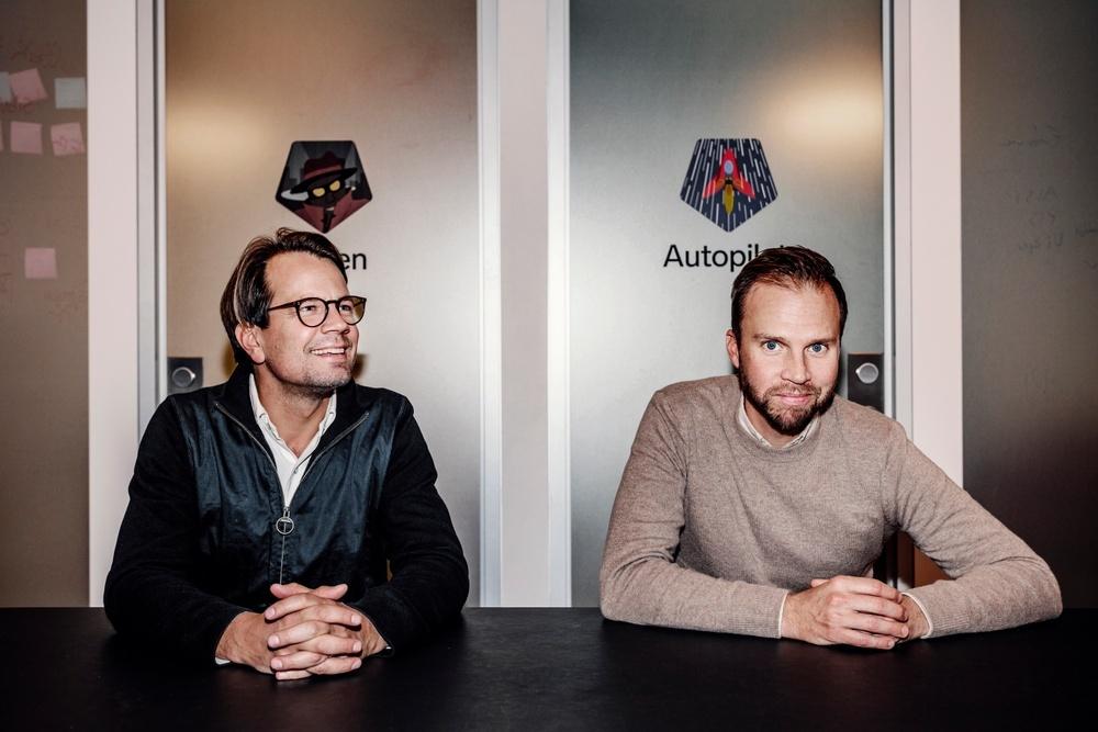 Henrik Rosvall, daglig leder og grunnlegger, med Johan Hemminger, COO och medgrunnlegger.