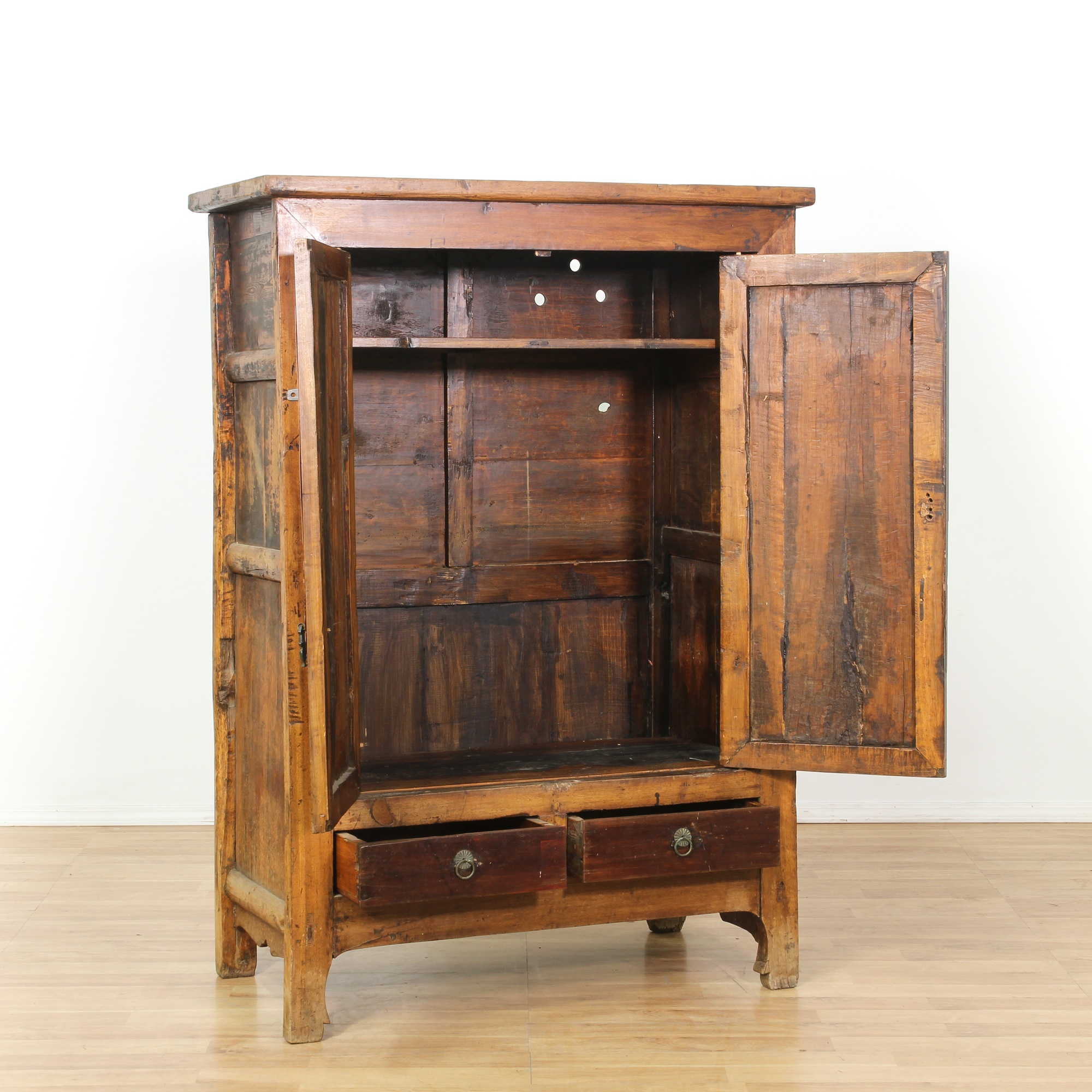 Rustic asian armoire cabinet loveseat vintage furniture for Oriental furniture los angeles