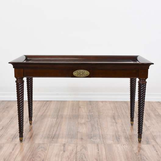 Rolling Media Cart Coffee Table W Cane Shelf Loveseat Vintage Furniture