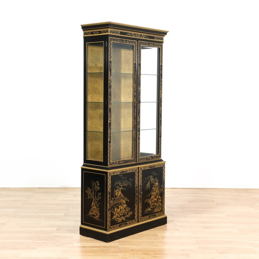 Drexel heritage asian chinoiserie curio cabinet for Oriental furniture los angeles