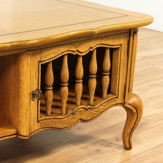 French Provincial Coffee Table Set: French Provincial Coffee Table W/ Cabinets