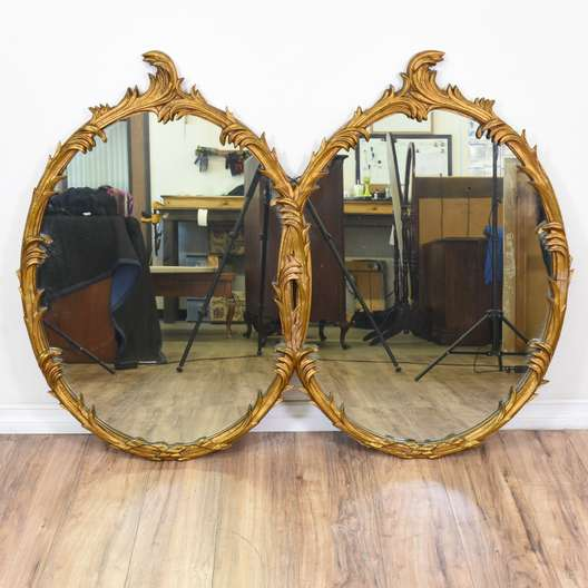 Hollywood Regency Style Gold Carved Mirror
