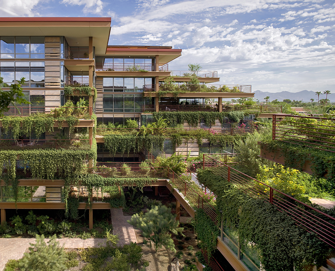 Private Green Roof Terraces at Each Residence