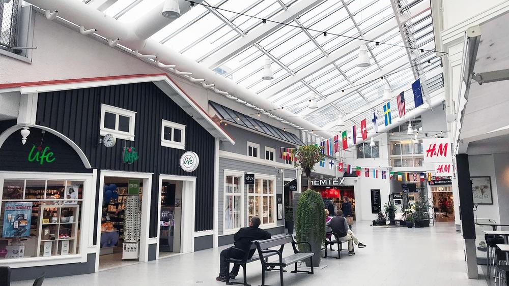 Köpcentret Småstaden. Bild från ETTELVA arkitekter.