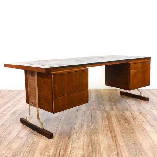 Mid Century Modern Floating Lucite Pedestal Desk