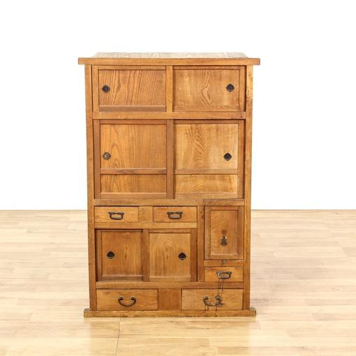 Japanese rustic tansu cabinet dresser loveseat vintage for Japanese furniture san diego