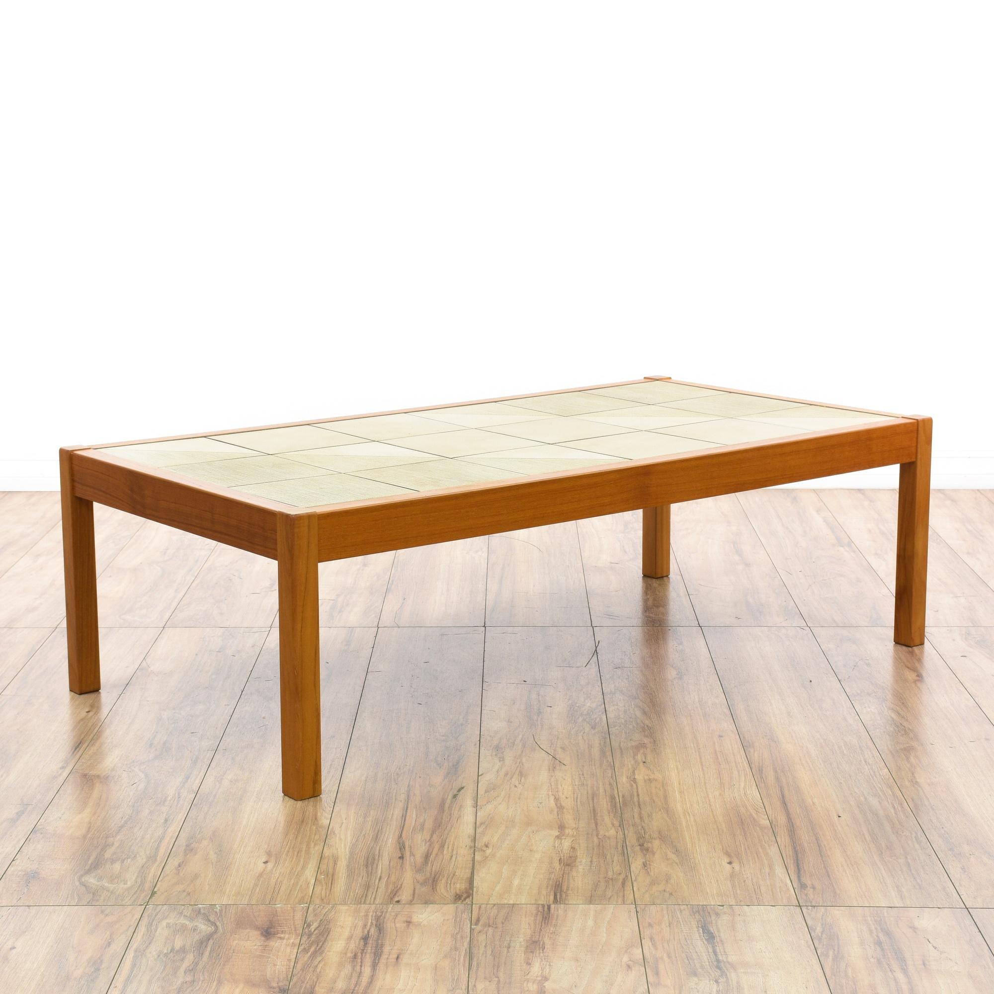 """Gangso"" Danish Modern Tile Top Coffee Table"