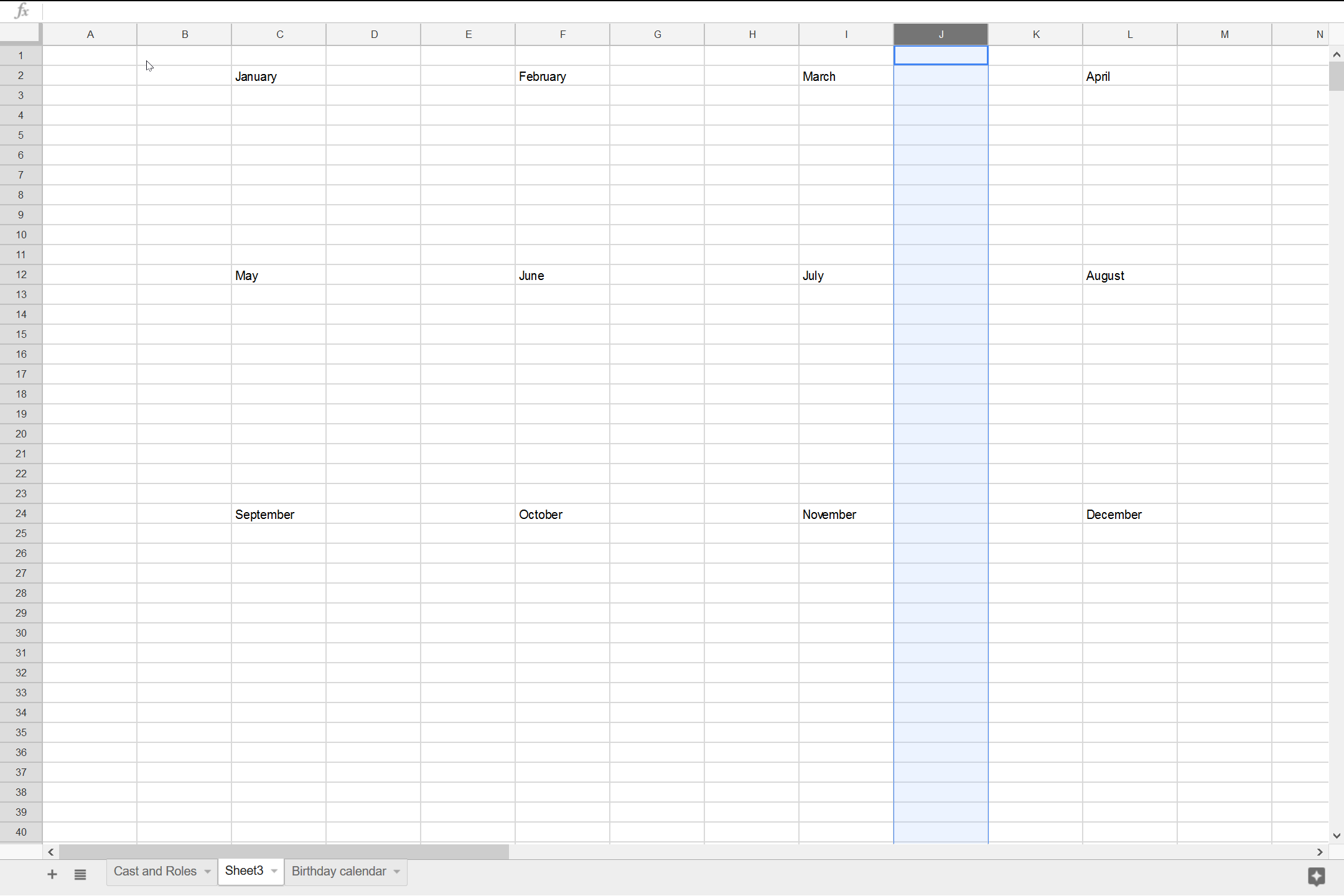 Building the Calendar - 05