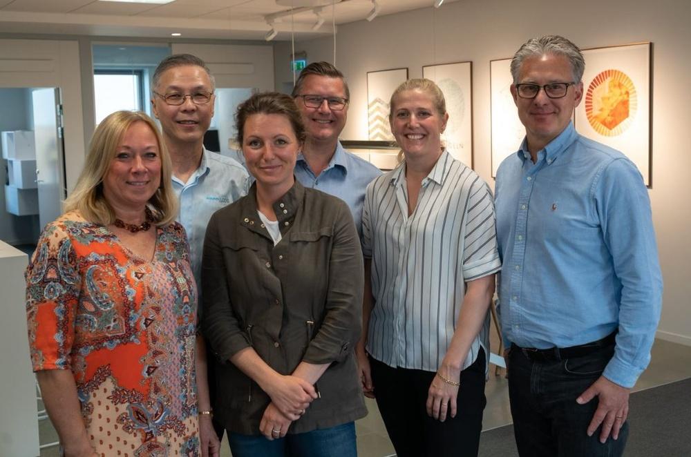 Höstens mentorer från Nord-Lock Group är Anette Green, Harlen Seow, Hanna Hultman, Håkan Mohlin and Carin Lagerstedt. Här med Bo Nilsson från Mitt Liv.