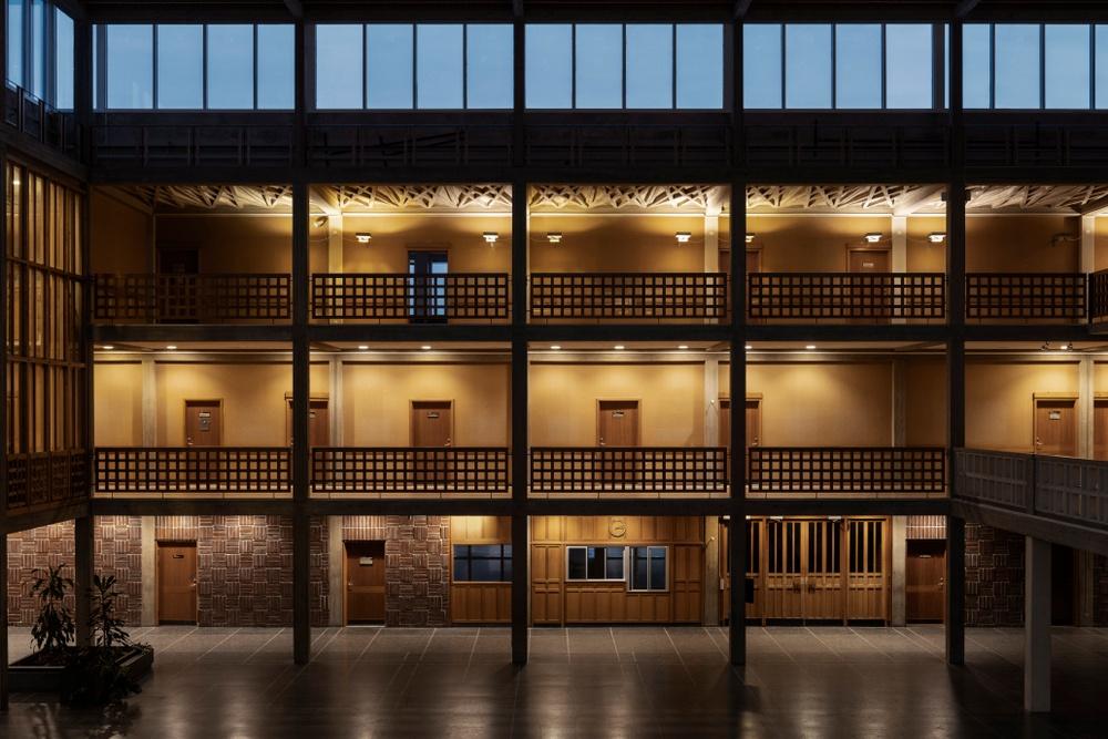 Cred: Erik Lefvander. Kiruna stadshus 2018. Bilden visar stadshuset i Kiruna innan flytten påbörjas.  Med tillstånd av författaren Lefvanders bilder är en del av