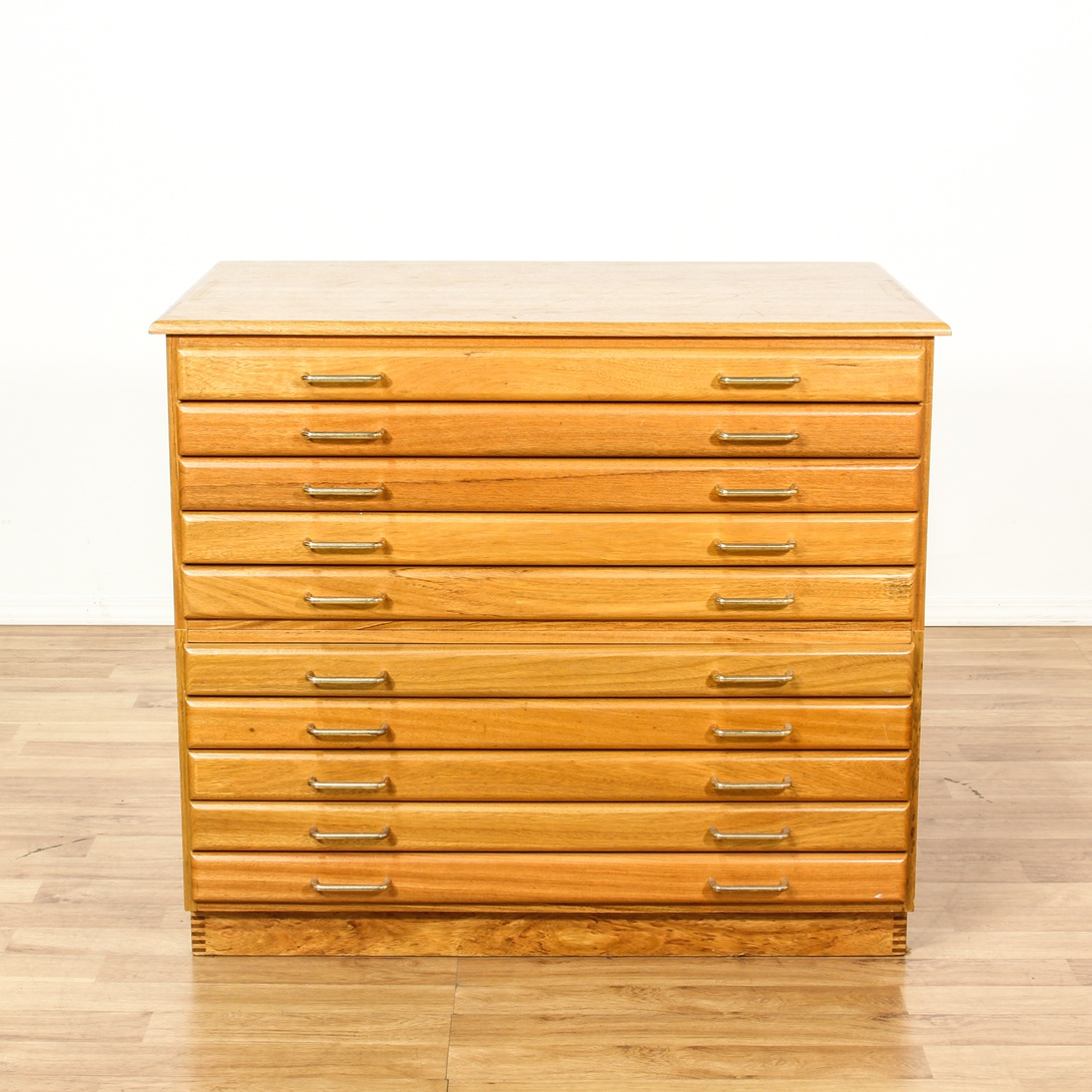light maple 10 drawer map flat file cabinet loveseat