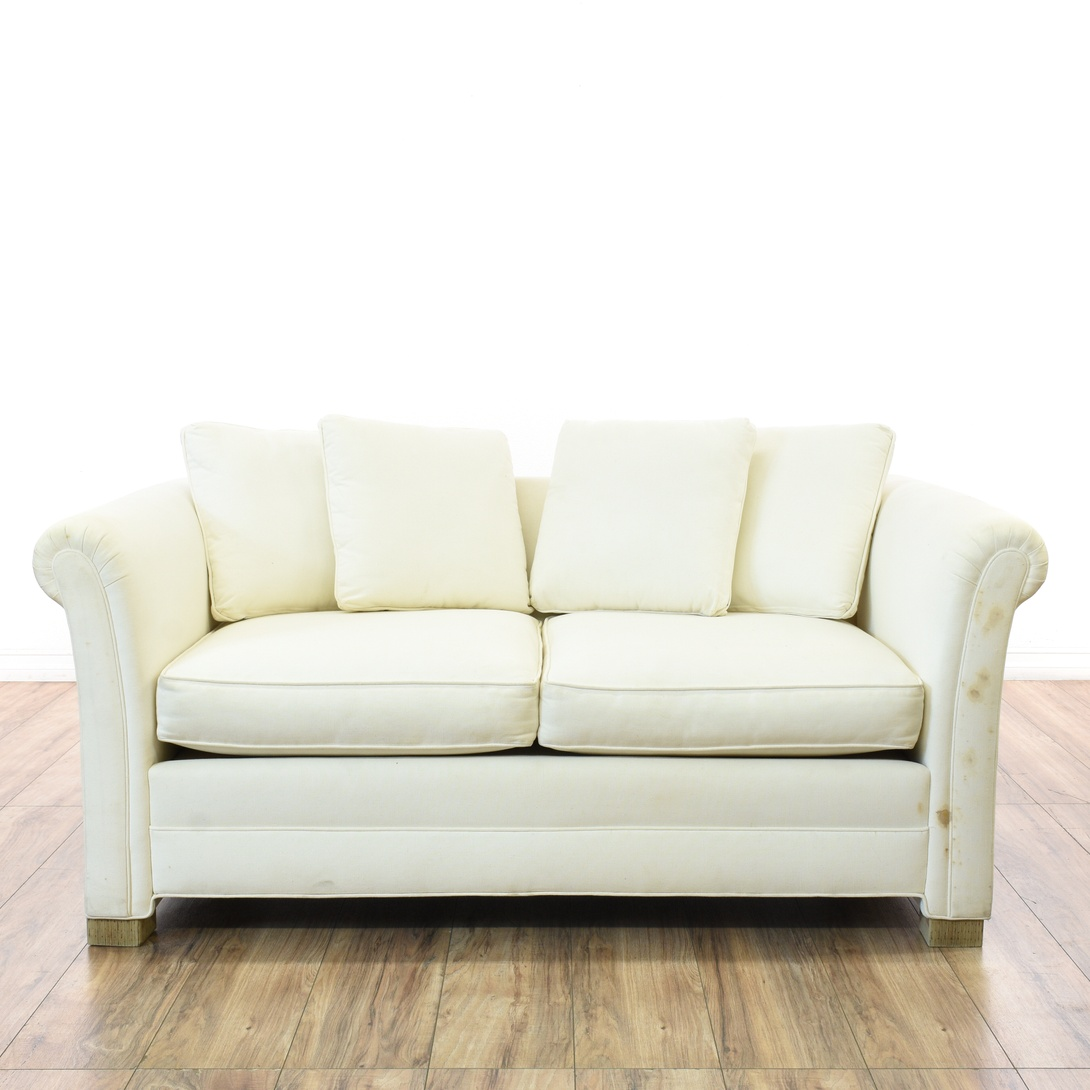 Cottage Chic White Loveseat Sofa Loveseat Vintage