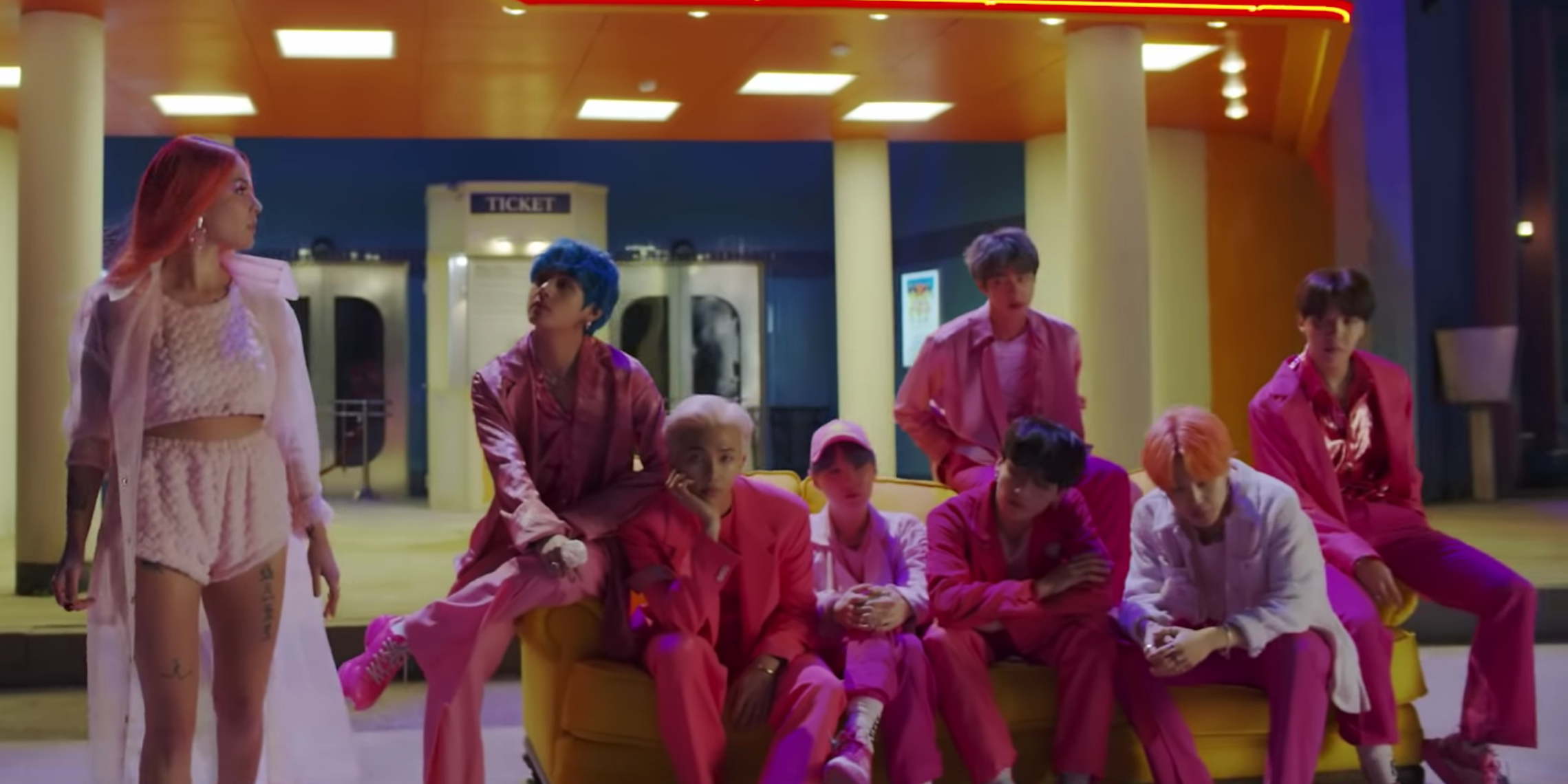 BTS previews new collaboration with Halsey, 'Boy With Luv' – watch