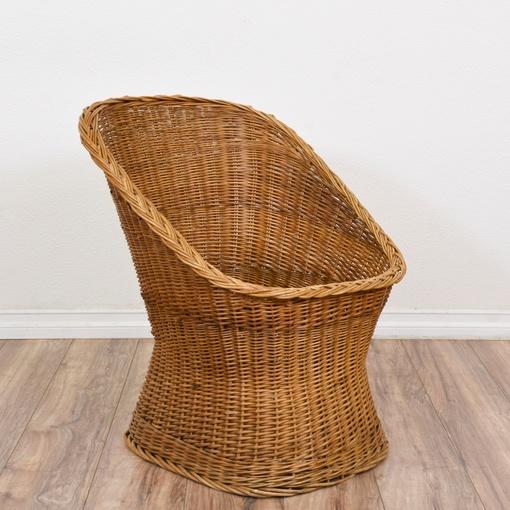 Boho Chic Vintage Wicker Chair Loveseat Vintage