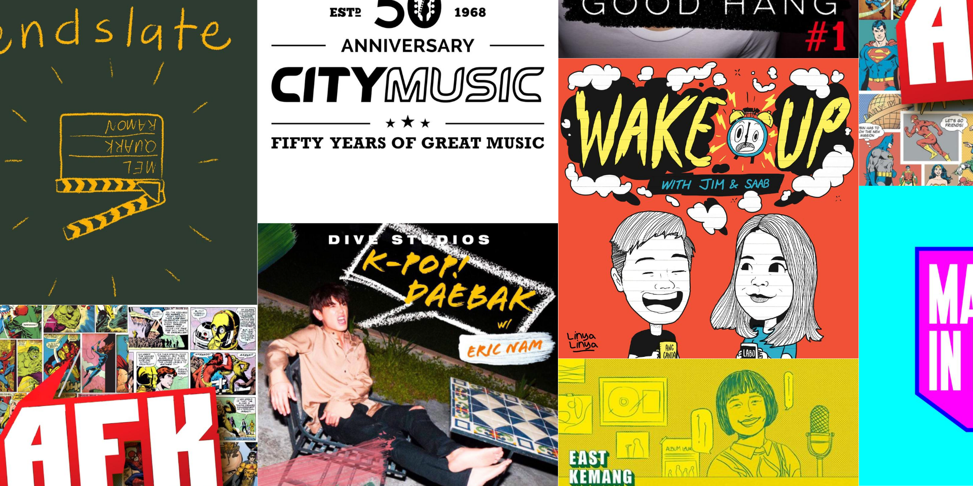Soundclass, K-pop Daebak, City Music SG, and more - podcasts from the region that you should listen to