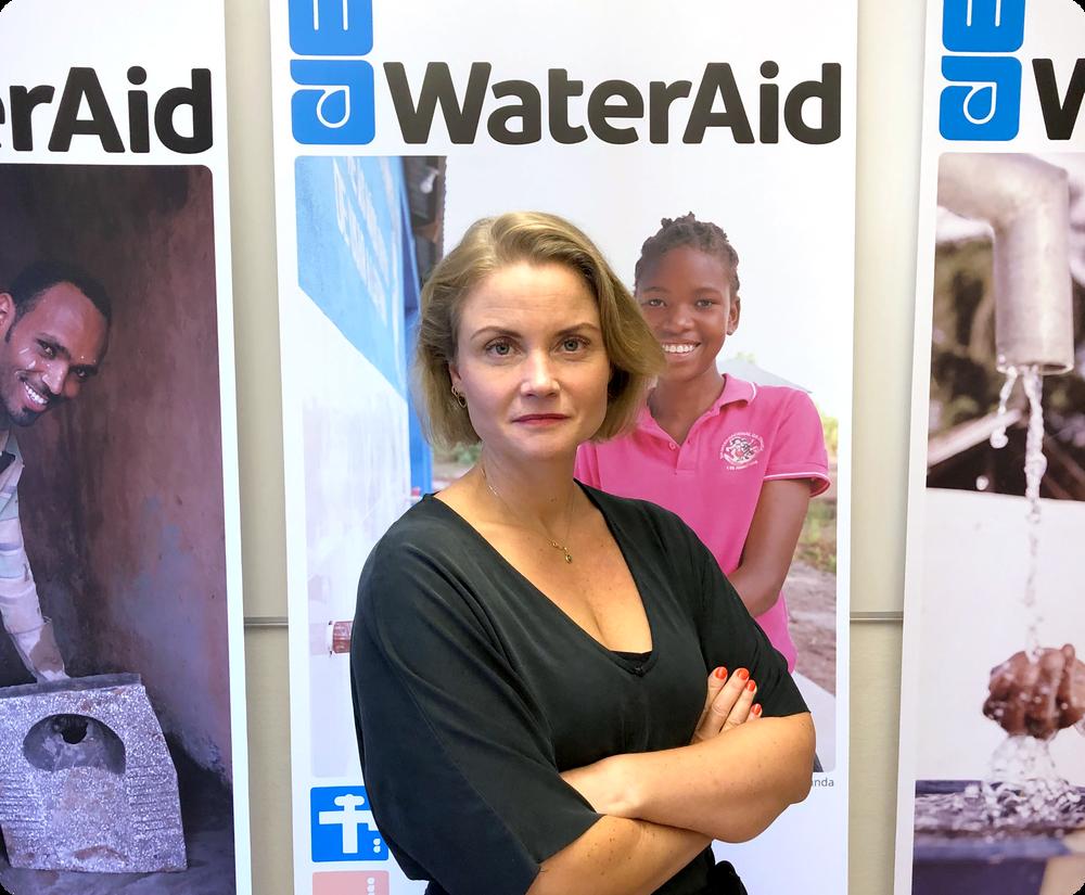 Julia Schalk ny chef för policy och påverkan på WaterAid. Foto: WaterAid
