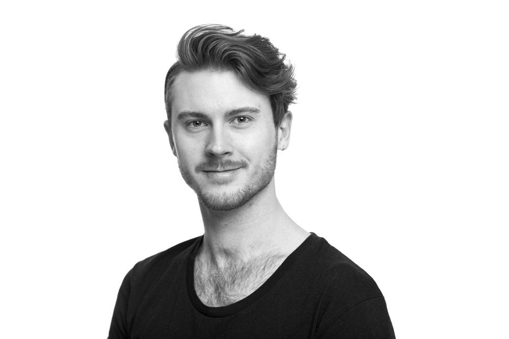 Adam Stålhammar, skådespelare på Västerbottensteatern. Foto: Patrick Degerman.