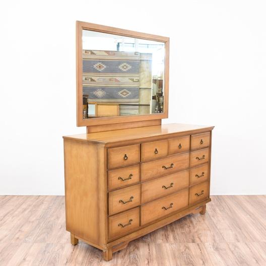Sumter cabinet co 13 drawer dresser mirror loveseat - Sumter cabinet company bedroom furniture ...