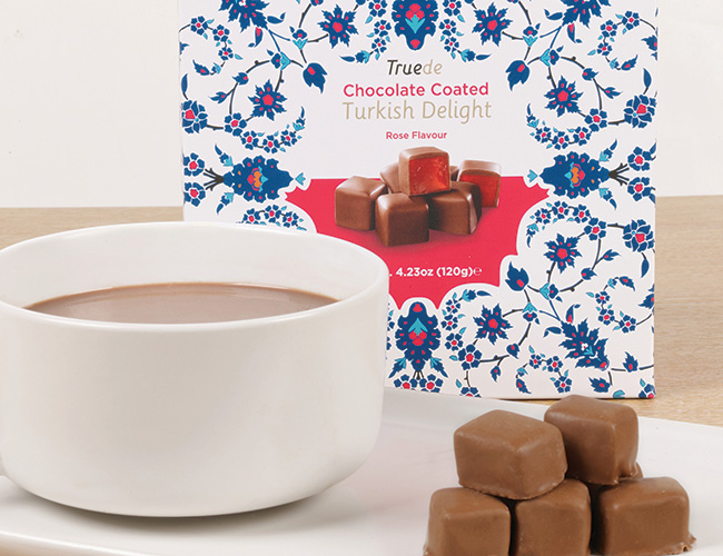 Truede chocolate-coated Turkish Delight