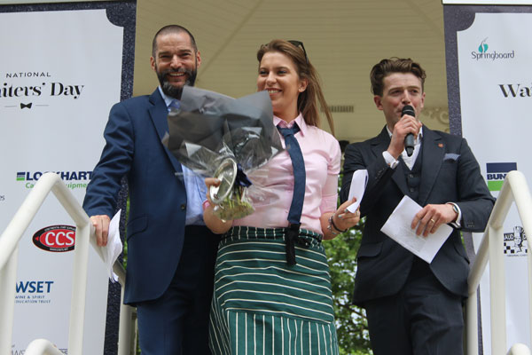 Charlotte Storey, The Pig - at Combe, winner of the Fastest Waitress prize
