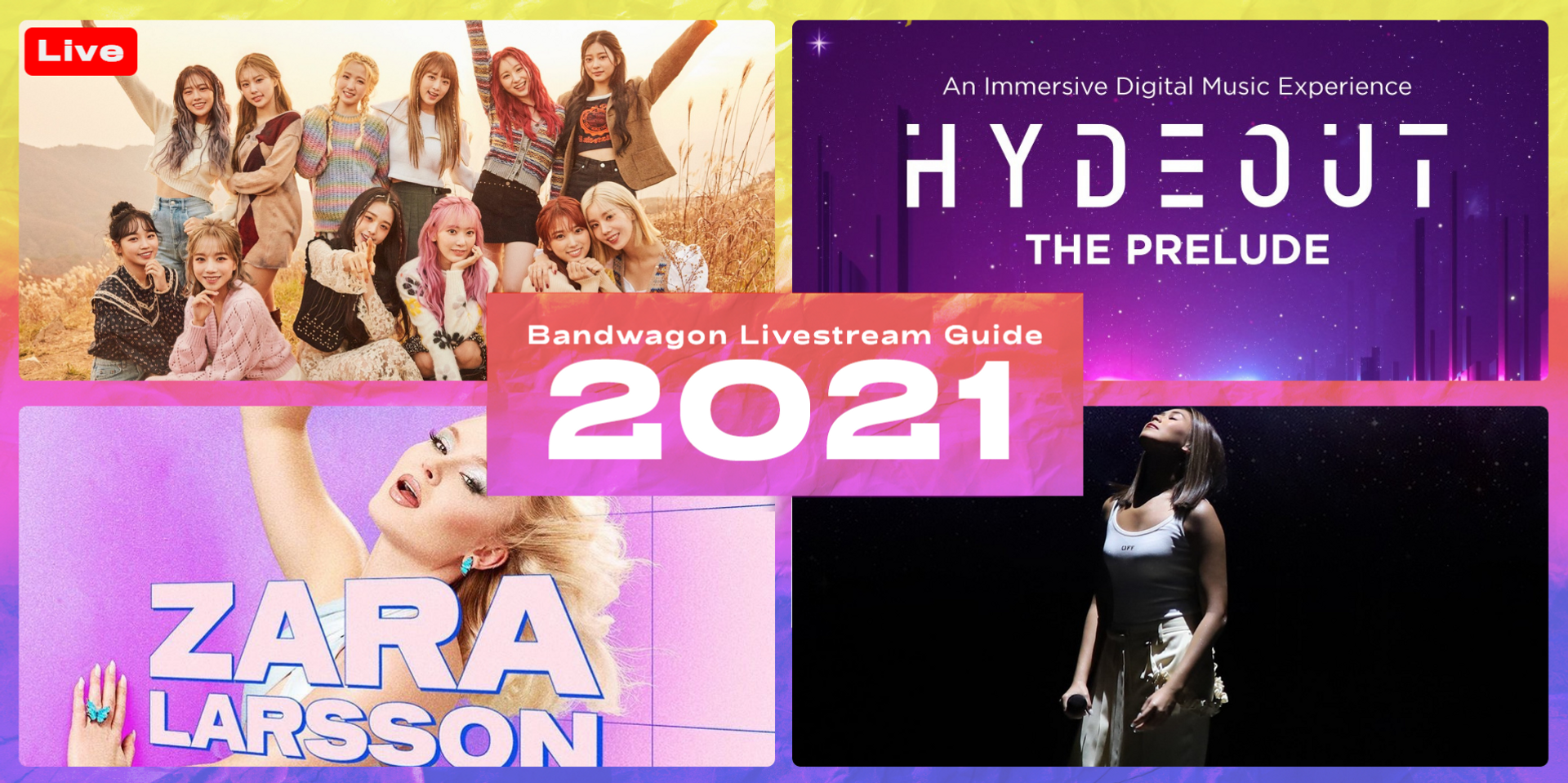 Online concerts and festivals to stream in 2021 - Hydeout, Zara Larsson, IZ*ONE, Sarah Geronimo, and more