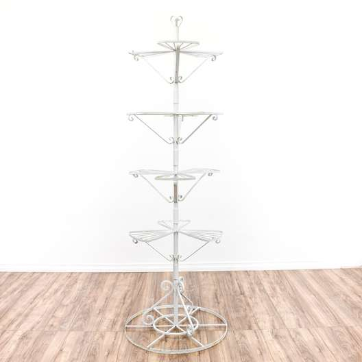 Wrought Iron Plant Stand Shelf 2