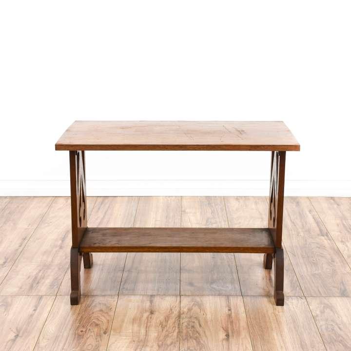 Quot Ethan Allen Quot Maple Octagon End Table Loveseat Vintage