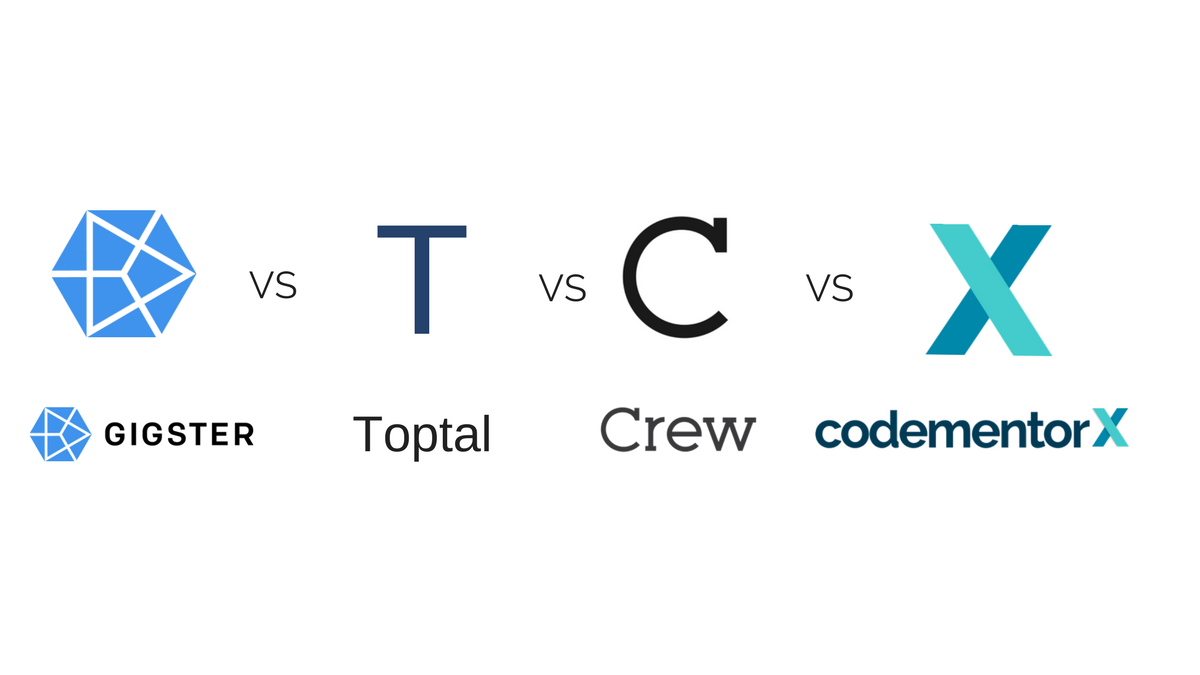 Gigster vs. Toptal vs. Crew vs. CodementorX: A Comparison of Freelance Developer Platforms