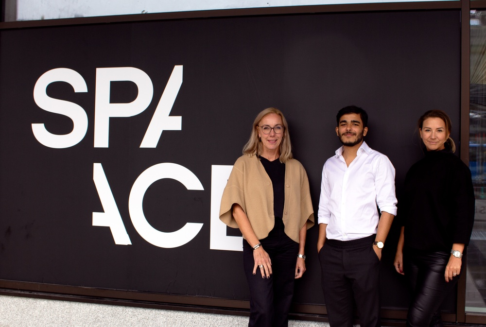 Åsa Caap, Head of Space; Ankit Desai, vd Snafu records; Caroline Cronstedt, Space Community Manager. Credit: Space